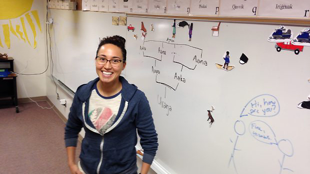 With few fluent speakers left, young people are teaching Inupiaq as they learn it