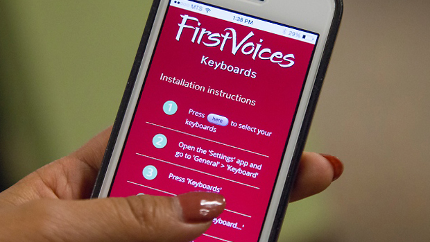 FirstVoices app translates English to Indigenous languages
